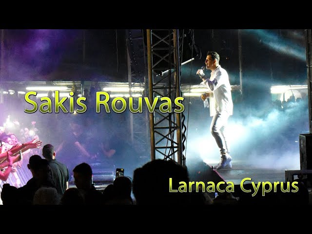 Sakis Rouvas in Larnaka Cyprus