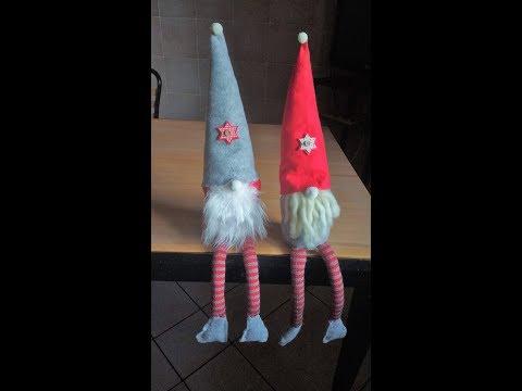 Gnomi Di Natale Gambe Lunghe