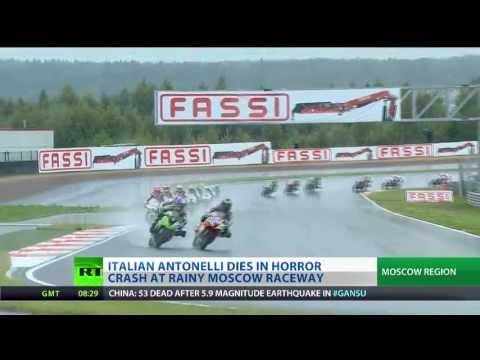Raceway Tragedy - Rider killed in horror crash in Moscow