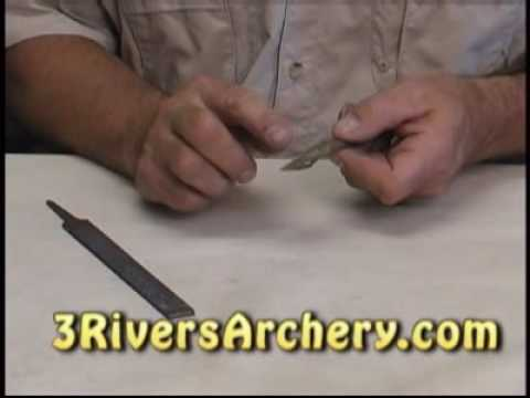 3Rivers Archery:  How to Sharpen 2 blade broadheads