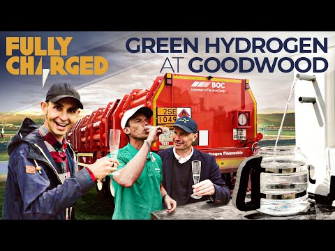 Green Hydrogen Fuel Cell Charging System at Goodwood Festival of Speed | Fully Charged