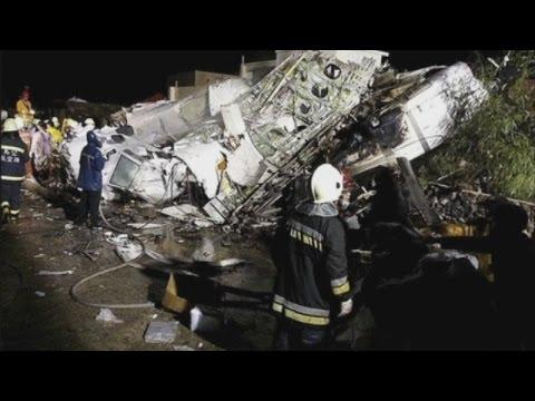 Taiwan plane crash: TransAsia Airways crash kills at least 40