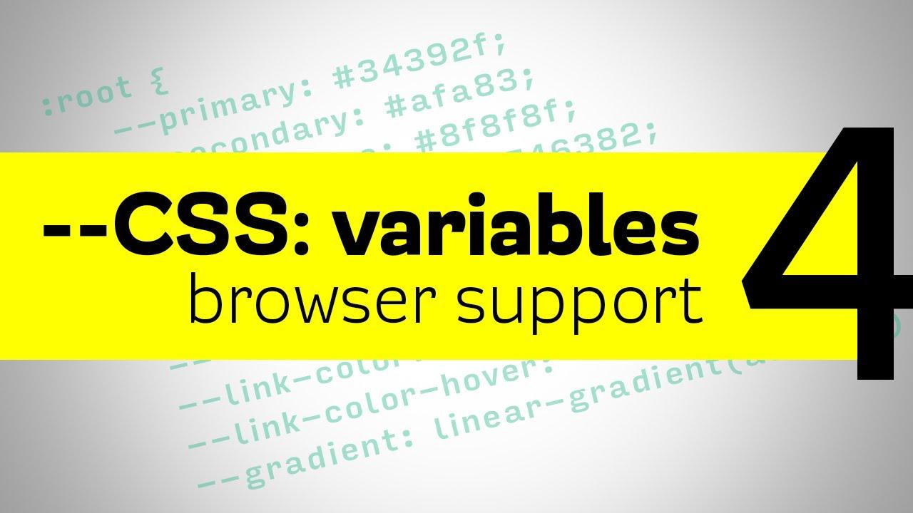 CSS Variables - Browser Fallbacks