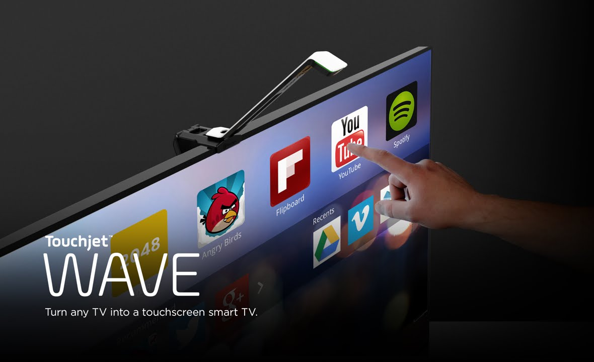 Touchjet WAVE - Turn any TV into a giant touchscreen - YouTube