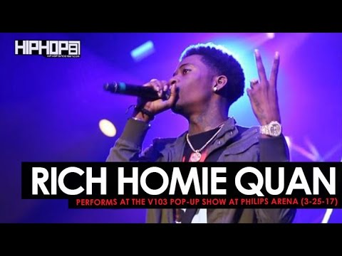 "Rich Homie Quan Performs ""Walk Thru"" & Debuts ""Replay"" at the V103 Pop-Up Show at Philips Arena"