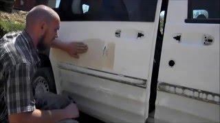"""Урок № 4 """" Как вывести прямую плоскость двери + проверка на неровности """" ( малярное дело )"""
