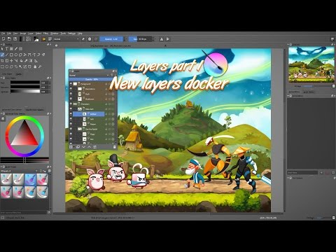 Layers in Krita 3: Overview of the new features
