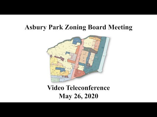 Asbury Park Zoning Board Meeting - May 26, 2020