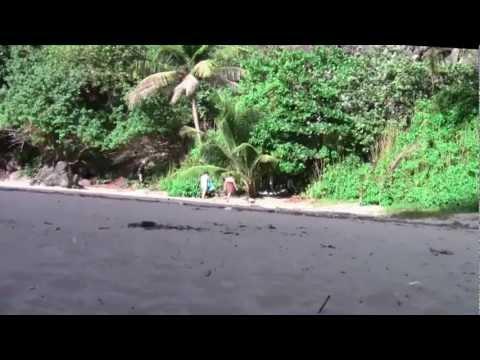 Playa Puerto Hermina - Puerto Rico Vacation - How To Open a Coconut