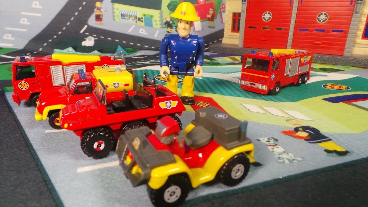 Spielmatte Kinder Feuerwehrmann Fireman Sam Latest Pontypandy Play Mat And Jupiter Fire Engine Spielmatte
