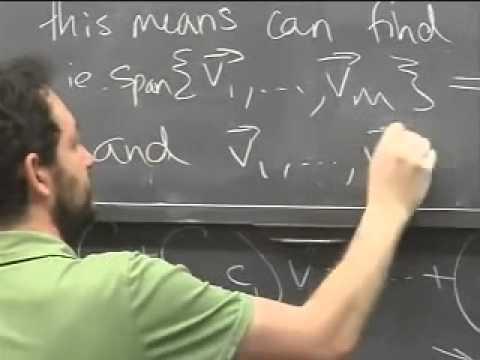 Lec 04 - Linear Algebra | Princeton University