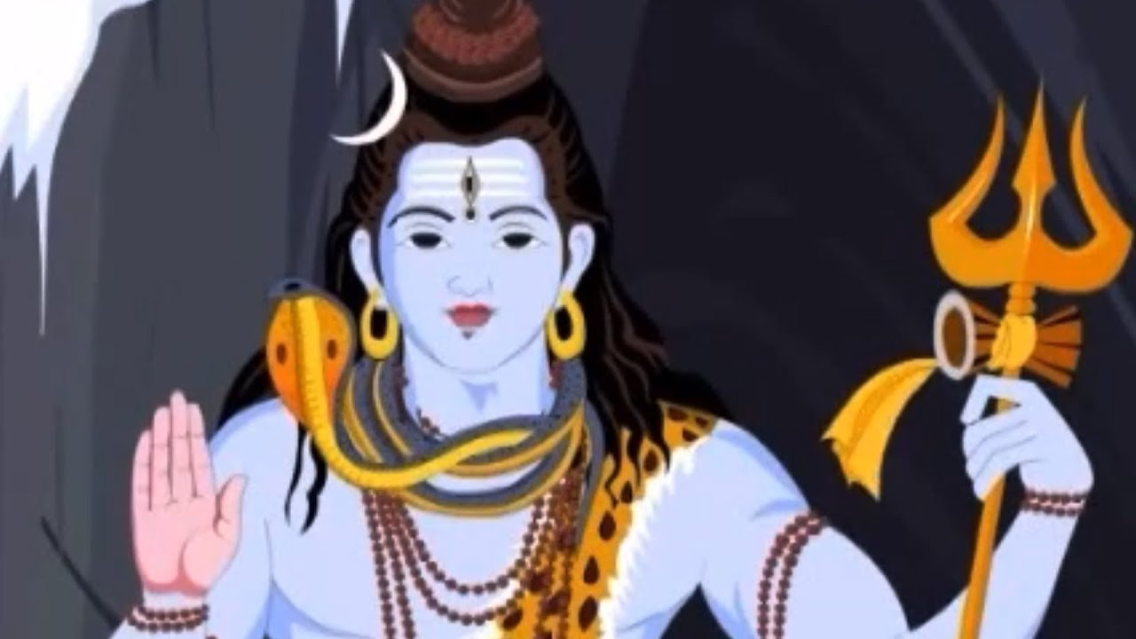 Supreme Wallpaper Girl Cartoon Lord Krishna Saves Lord Shiva Youtube