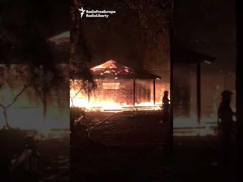 Former Ukrainian Central Banker's House In Flames
