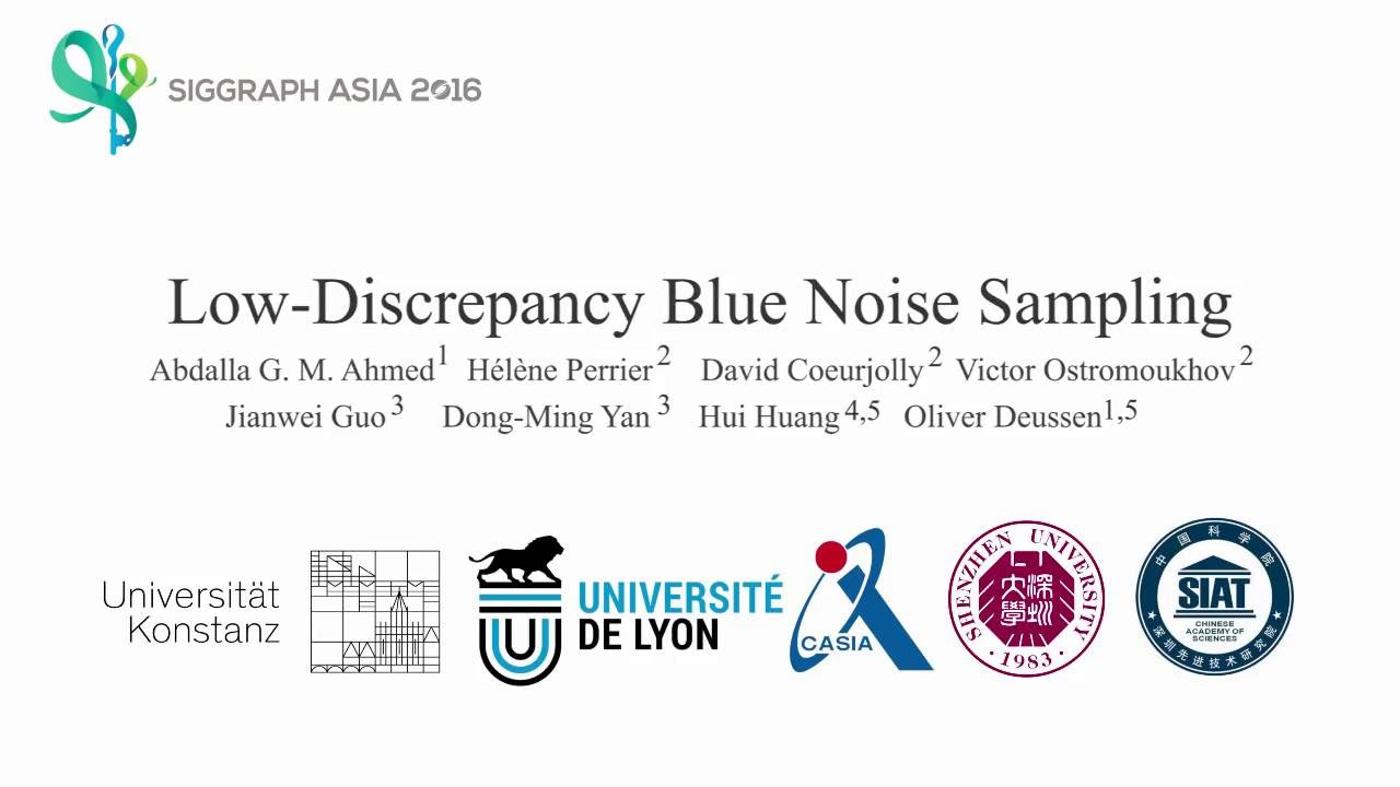Low-Discrepancy Blue Noise Sampling (Siggraph Asia 2016)