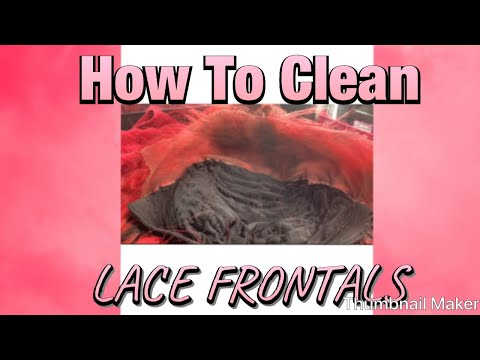 How To Clean Your Frontal | QUICK & EASY METHOD!!!!