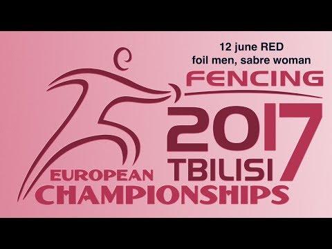 #European Champioships Tbilisi Men Foil/Woman Sabre individual RED piste