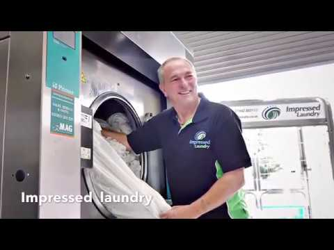 Demonstration By Impressed Laundry Manchester Of The Primer LS62 Industrial Washing Machine