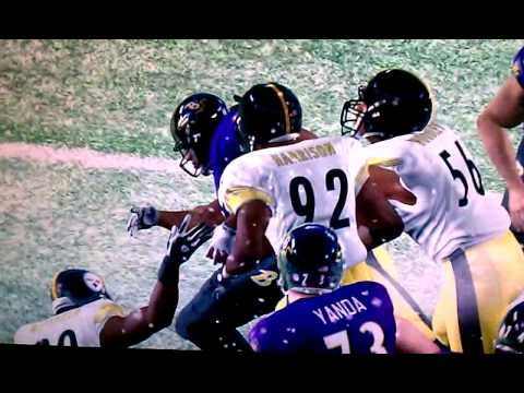 Ray rice running over steelers Madden 11.