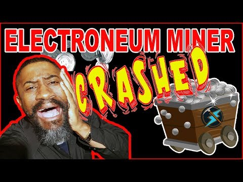 Electroneum Mining Crashes, (IOS miner)  Beta tester, (Exciting New Information) 2018