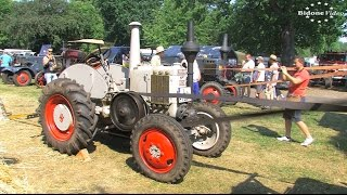Dreschen und Mahlen mit dem Lanz Bulldog - threshing with historic tractor