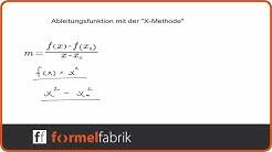Ableitungsfunktion mit der x-Methode (Teil 1)