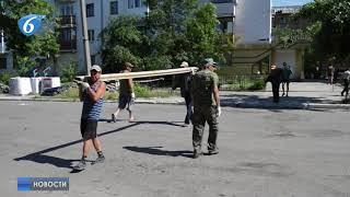 В Горловке продолжаются восстановительные работы жилого фонда, пострадавшего в результате урагана