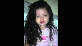 Irish traveller 4 year old Chanel mcdonagh singing