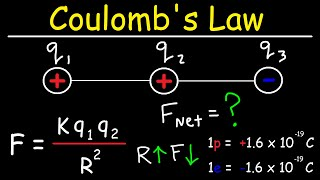 Coulomb's Law - Net Electric Force & Point Charges