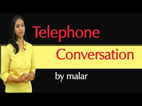 Learn Telephone Conversation # 8 - Learn English with Kaizen through Tamil