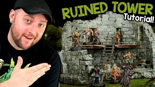 Ruined Tower Terrain for D&D Tutorial (Black Magic Craft Episode 095)