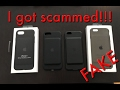 Fake iPhone 6S Smart Battery Case vs. real iPhone 7 Case