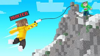GRAPPLE HOOK Hunters VS Speedrunner In Minecraft!