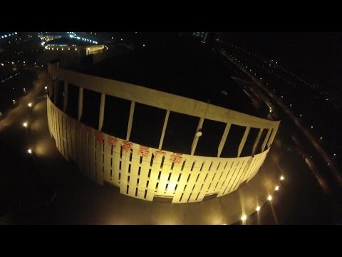 ZhuZhou City Day and Night Aerial Video