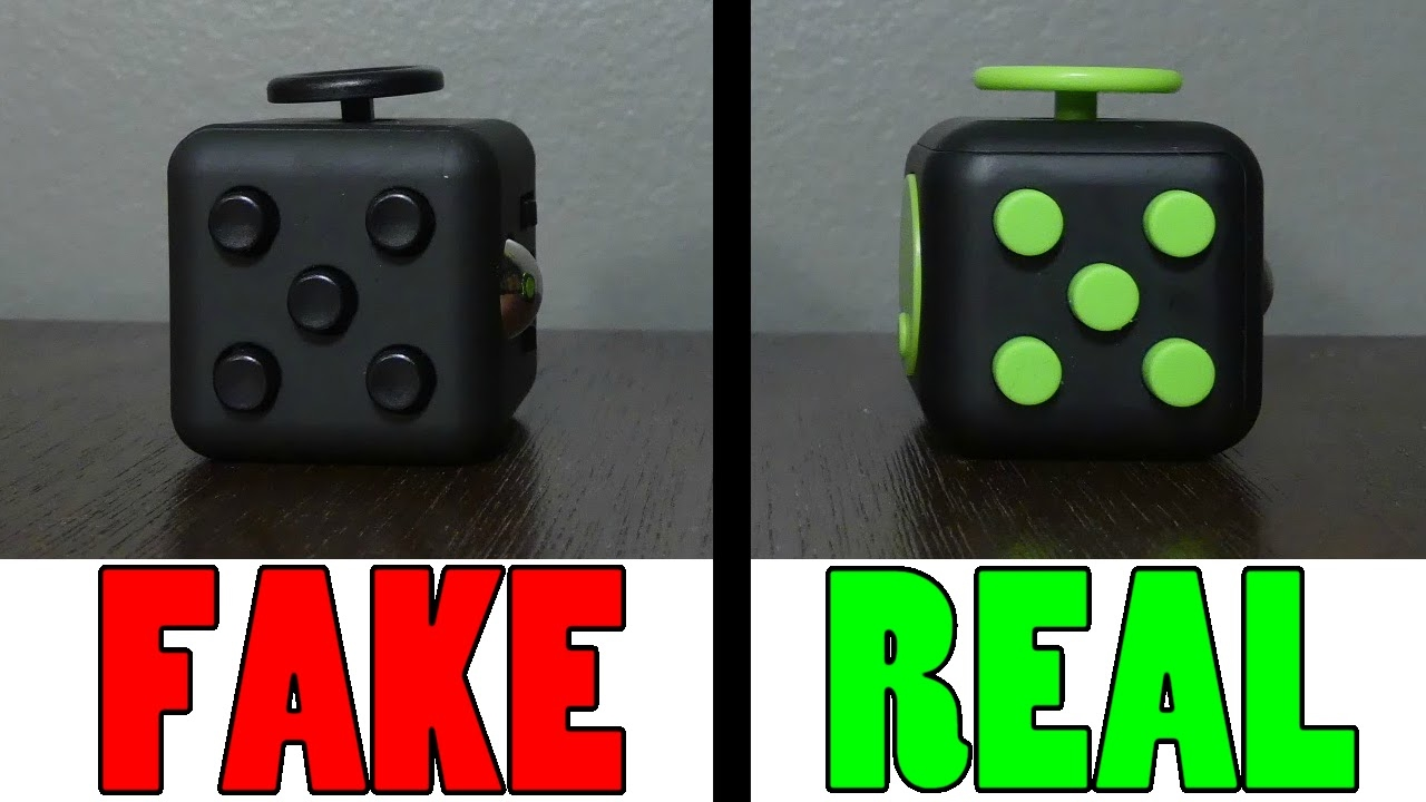 how to spot a fake fidget cube online doovi. Black Bedroom Furniture Sets. Home Design Ideas