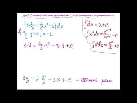 Диф.  уравнения с разделёнными переменными
