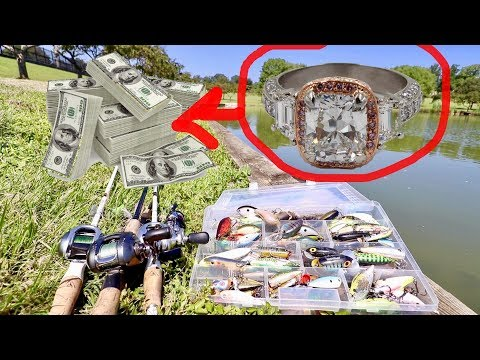 HE FOUND A $55,000 ENGAGEMENT RING WHILE FISHING!!!!!!!!!!