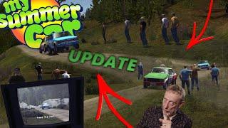 PRZECIWNICY W RAJDZIE I RAJD W TV - My Summer Car UPDATE [12.08.2019] Omówienie Aktualizacji ???? - Na żywo
