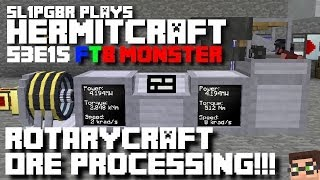 HermitCraft FTB Monster - Rotarycraft Ore Processing!!! ( Minecraft Feed The Beast ) S3E15