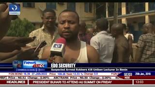 Suspected Armed Robbers Kill UNIBEN Lecturer In Benin