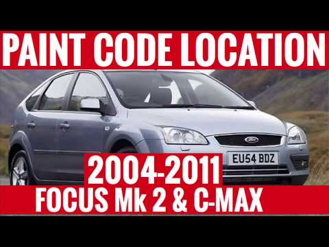 Where Is The Paint Code Colour Code Location Ford Focus Mk 2