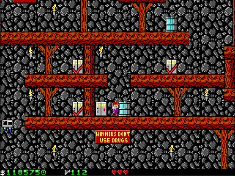 Apogee Crystal Caves I, Troubles With Twibbles, 1991. Level 6 Walkthrough