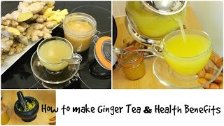 Ginger Tea Recipe with Honey Health Benefits for Cold Weight Loss Hair Growth.