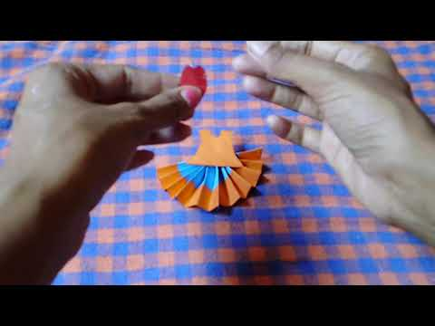 How to Make Paper Dress - DIY - Paper Craft
