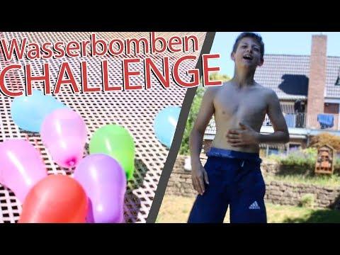 TRAMPOLIN WASSERBOMBEN Challenge mit (mit Jonah) | Joel Pschl