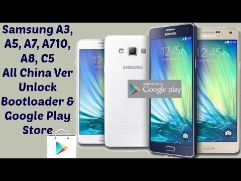 Samsung A3, A5, A7, A8, A710, C5 ETC Unlock Bootloader & install Google Gapps