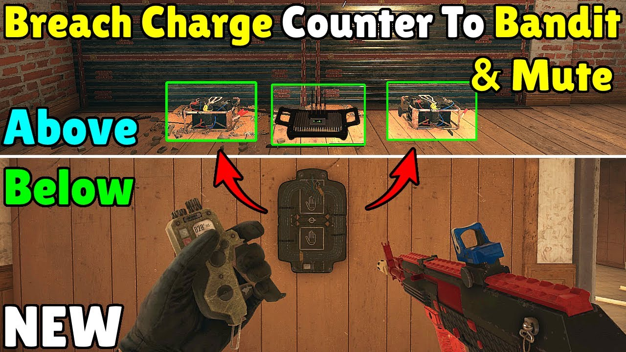 *NEW* Way To Counter Mute & Bandit Using Breach Charges! - Rainbow Six Siege
