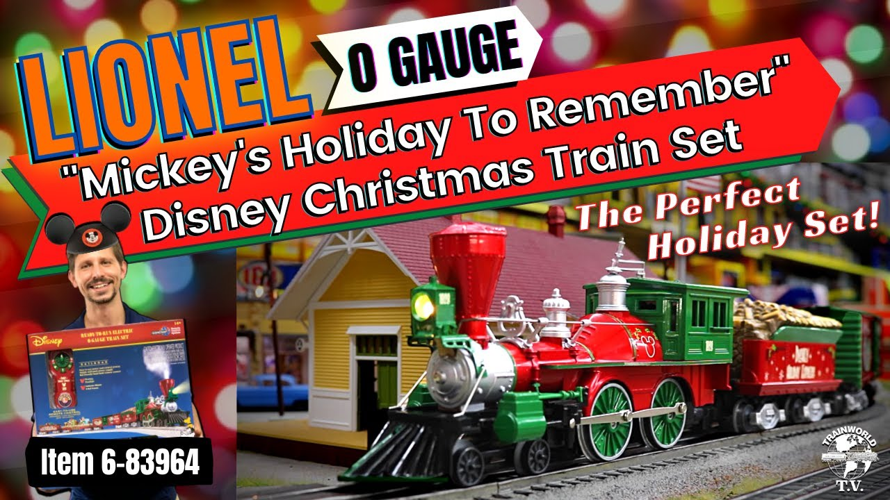 Lionel Christmas Train.Lionel Mickey S Holiday To Remember Disney Christmas Lionchief Set