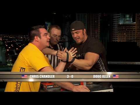 Arm Wars | Armwrestling | Chris Chandler USA v Doug Allen CAN | Left