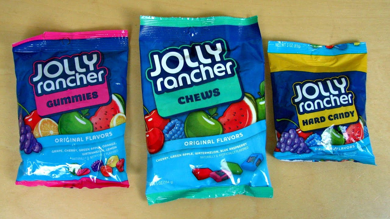 3 jolly rancher varieties chews gummies and hard candies