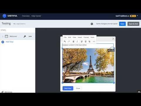 Usetiful - Visual Editor Demo